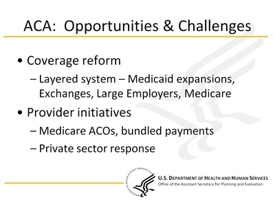 ACA: Opportunities & Challenges