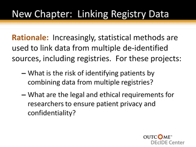 New Chapter: Linking Registry Data