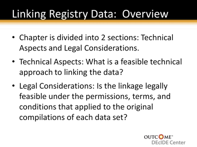 Linking Registry Data: Overview