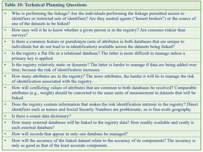 Technical Planning Questions