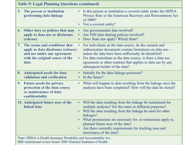 Legal Planning Questions (continued)