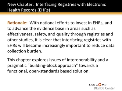 New Chapter: Interfacing Registries with Electronic Health Records (EHRs)