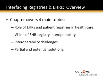 Interfacing Registries & EHRs: Overview