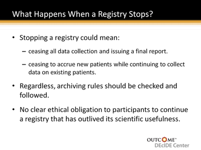 What Happens When a Registry Stops?