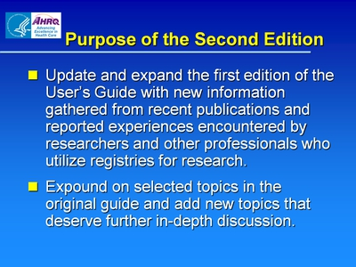 Purpose of the Second Edition