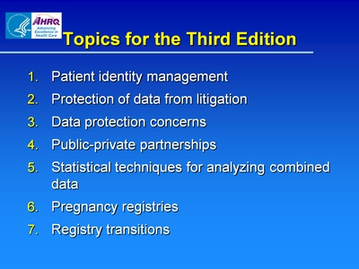 Topics for the Third Edition