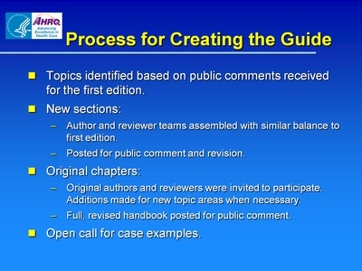 Process for Creating the Guide