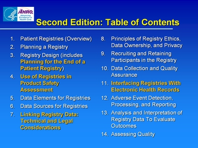 Second Edition: Table of Contents