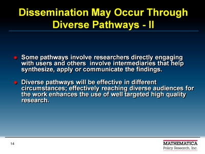Dissemination May Occur Through Diverse Pathways-II