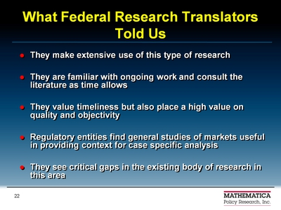 What Federal Research Translators Told Us