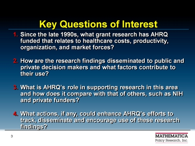 Key Questions of Interest