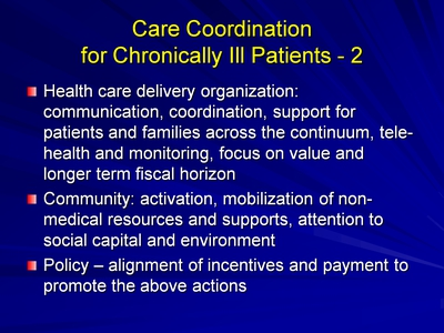 Slide 19. Care Coordination for Chronically Ill Patients-2