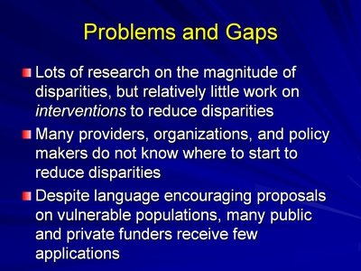 Slide 4. Problems and Gaps