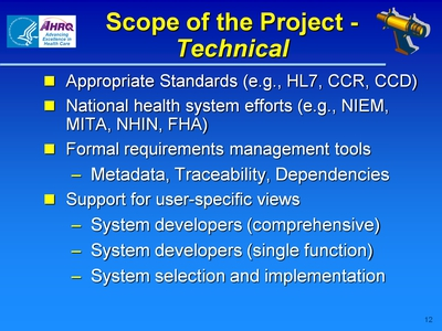Scope of the Project-Technical