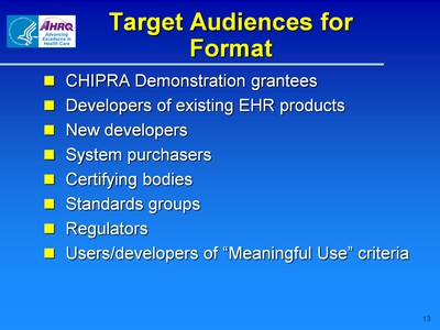 Target Audiences for Format