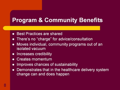 Program & Community Benefits