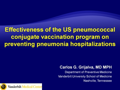 Effectiveness of the US Pneumococcal Conjugate Vaccination Program on Preventing Pneumonia Hospitalizations