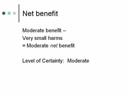 Slide 23. Net benefit