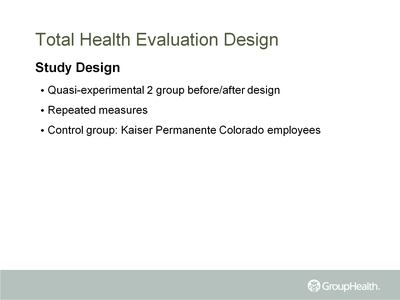 Total Health Evaluation Design