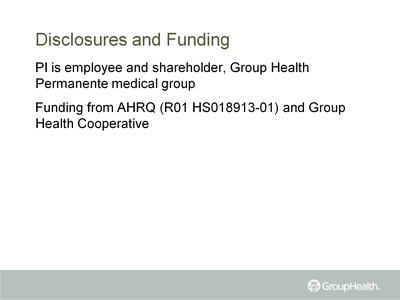 Disclosures and Funding
