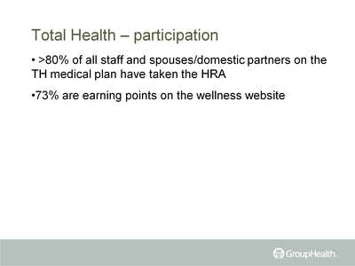Total Health-participation