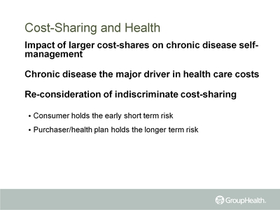 Cost-Sharing and Health