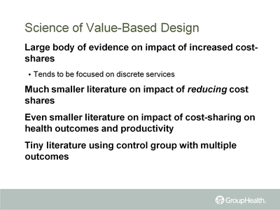 Science of Value-Based Design