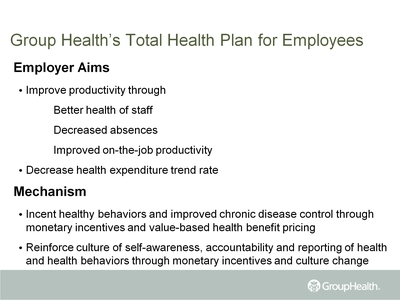 Group Health's Total Health Plan for Employees
