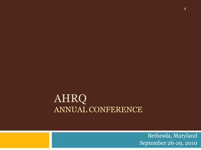 AHRQ Annual Conference