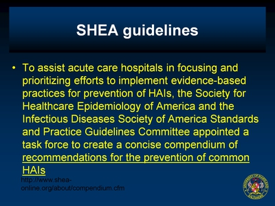 SHEA guidelines