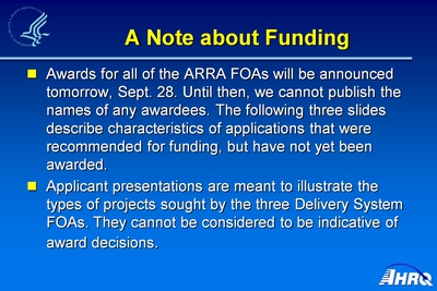 A Note about Funding