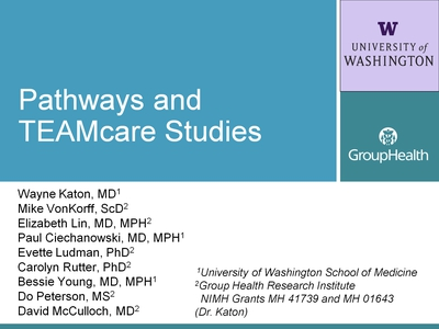 Pathways and TEAMcare Studies