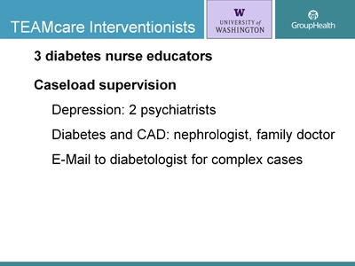 TEAMcare Interventionists
