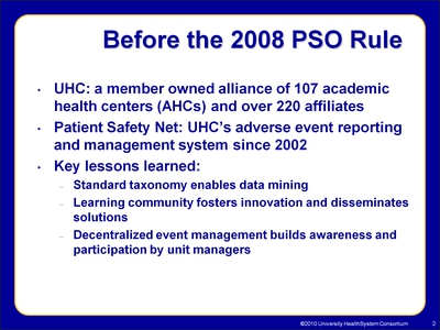 Before the 2008 PSO Rule