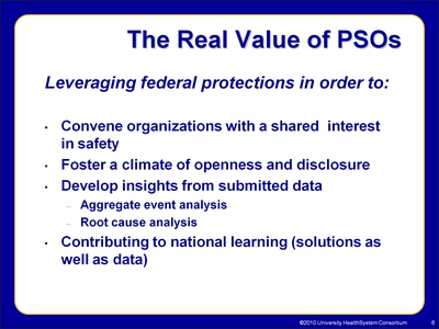 The Real Value of PSOs