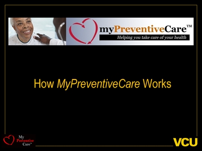 How MyPreventiveCare Works