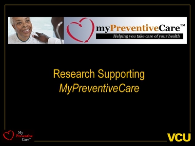 Research Supporting MyPreventiveCare