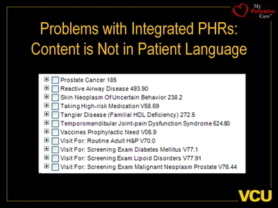 Problems with Integrated PHRs: Content is Not in Patient Language