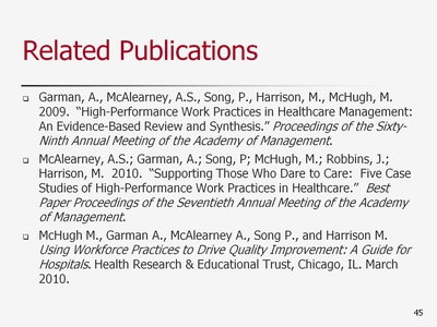 Slide 45. Related Publications