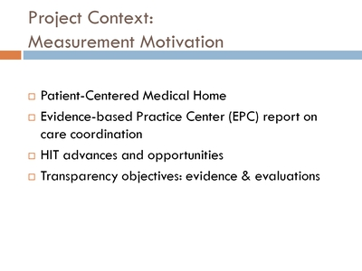 Project Context: Measurement Motivation
