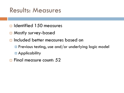 Results: Measures