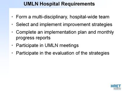 UMLN Hospital Requirements