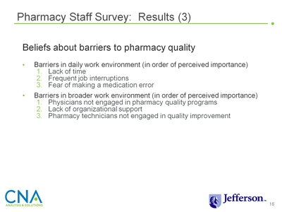 Pharmacy Staff Survey: Results (3)
