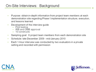 On-Site Interviews: Background