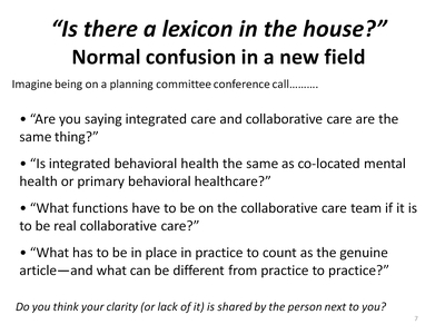 Is there a lexicon in the house? - Normal confusion in a new field