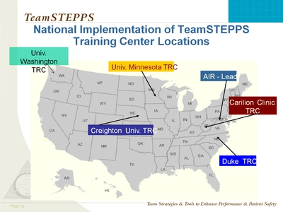 TeamSTEPPS Master Trainer Sessions