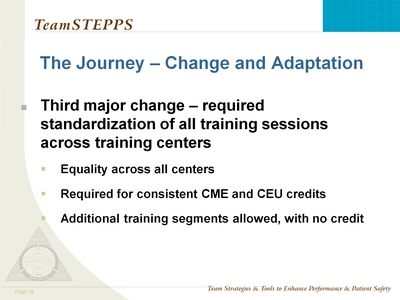 The Journey-Change and Adaptation