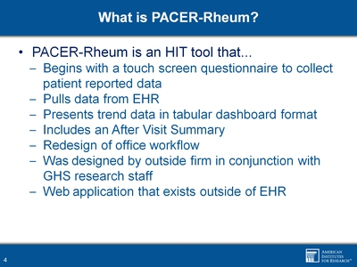 What is PACER-Rheum?