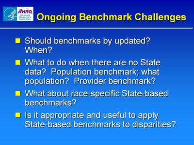 Slide 12. Ongoing Benchmark Challenges