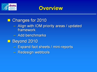 Slide 2. 2010 NHQR / NHDR Chapters
